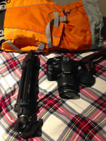 Canon T2I Camera with tripod and bag