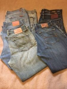 7 pairs of desinger Jeans. Seven, Lucky Brand, LTB, Waist 38