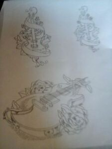 TATTOO FLASH / STENCILS
