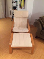 $50 - IKEA poang chair and footstool - GREAT CONDITION