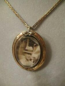CHARMING OLD ANTIQUE 33 CHAIN-STYLE PENDANT NECKLACE
