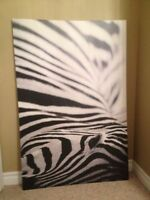Zebra picture ikea canvas art