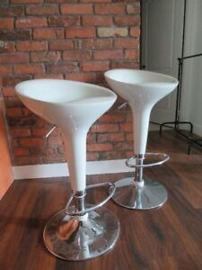 White Retro Dining Chairs