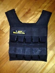 V-Max Weight Vest. Max Cap 50lbs. Used but perfect working cond