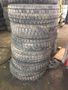 "Used 19.5"" Tires- Various Goodyear,Continental ect OS/W OS/E"