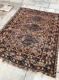 Eastern Rug , colours in blue and brown's . Size L 82in x 62in