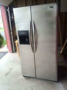 StainlessSteel double door refrigerator with ice maker for sale