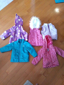 Girls vests and jackets