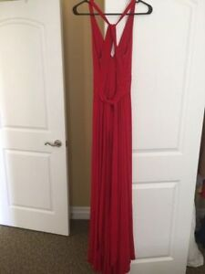 Red Evening Dress with Train