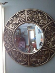 "Very Large Round Mirror 43"" Diameter"