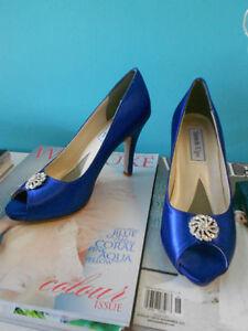 Shoes, Royal Blue, Benjamin Walk designer $45 NEW Kitchener / Waterloo Kitchener Area image 2