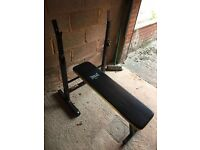 weights bench with weights as new