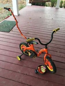 """12 Tigger Toddler Bike with Training Wheels"