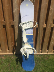Women's 156cm Anthem snowboard and bindings for sale.