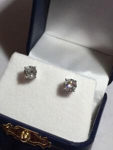 1.00TCW DIAMOND STUD EARRING'S ON SALE NOW NEW!!!!!!!!! Edmonton Edmonton Area image 6