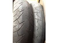 "Bridgestone 17"" bike tyres"