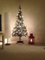 CHRISTMAS TREE WITH ALL ORNAMENTS AND LIGHTS