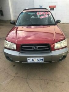 2002 Subaru Forester MY03 XS Red 4 Speed Automatic Wagon Fyshwick South Canberra Preview