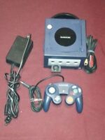 Nintendo Game Cube Purple Matching controller all cable memory