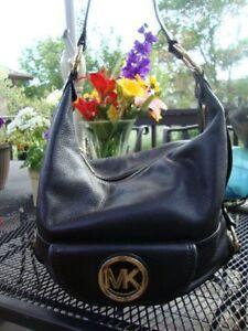authentic michael kors bag leather black