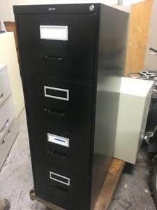 Classeur robuste 4 tiroirs noir
