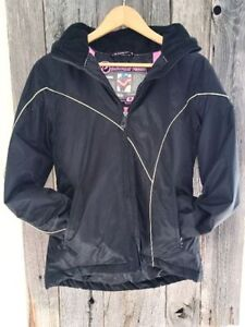Powder Room Snowboard Ski Jacket Black Insulated Coat MINT cond.