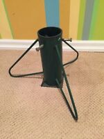 Vintage industrial metal Christmas tree stand