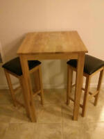 Moving sale, bar table set with stools!