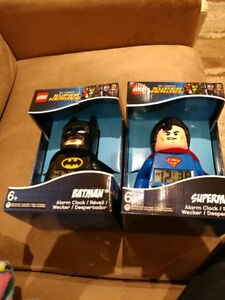 Brand new Lego Superman and Batman alarm clock for sell