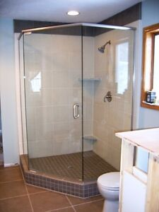 """Neo Angle 34"""" shower glass and door"""