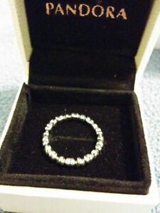 "Authentic Pandora "" Forever love"" Sterling Silver Ring Windsor Region Ontario image 2"