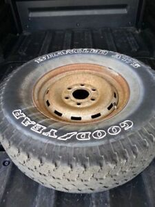 """16"""" tire and rim . 6 bolt pattern"""