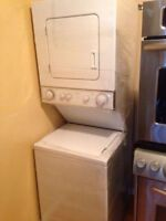"""24"""" space saver whirlpool stackable washer & dryer"""