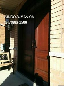 Entry Door Exterior Replacement Fiberglass  Installed