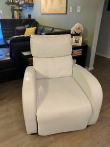 Lovely white reclining chair!