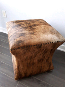 Rare brindle cowhide ottoman / stool / chair / foot rest