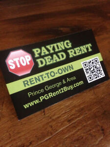 *Stop paying dead rent! Rent 2 Buy!***