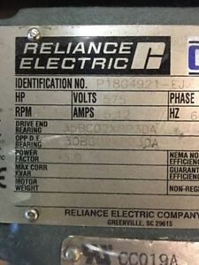 lot of 4 reliance electric motors 300.00 O.B.O. or $100 each obo Cambridge Kitchener Area image 3