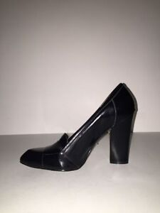 New Aldo Black Leather Water High Heel Size 40