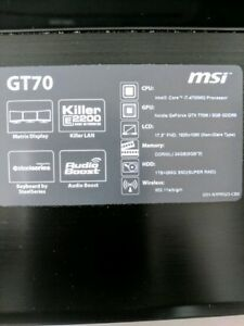 MSI gaming laptop FOR TRADE