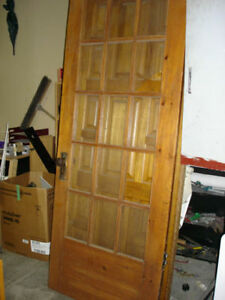 vintage antique door solid wood very nice Canada made 1950