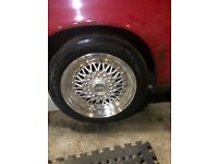 "15"" 4x100 4x114.3 polished dished alloys mx5 e30 honda vw"