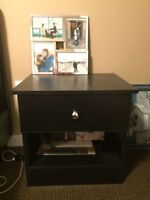 [Price Reduced] End Table and Drawer Matching Set