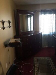Queen size bed,side tables n dresser set moving out sell Edmonton Edmonton Area image 2