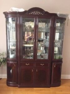 SOLID HUTCH/DISPLAY CABINET FOR SALE