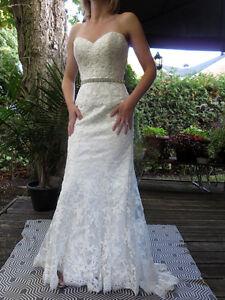 MAGGIE SOTTERO COUTURE KLEINMAN SIZE 4 WEDDING GOWN $2500 RETAIL