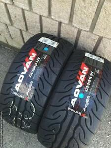 Two Brand New 225 / 50 R16 Yokohama AD08 Tires s2000