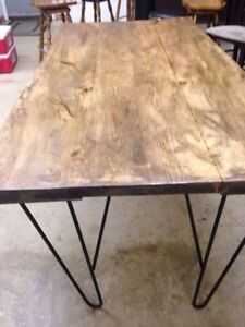one off hand made live edge dining table
