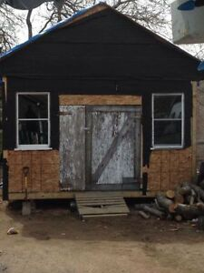16x14 storage shed,6months old,make great camp!