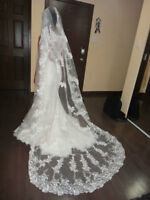 cathedral lace veil- voile cathedral marriage